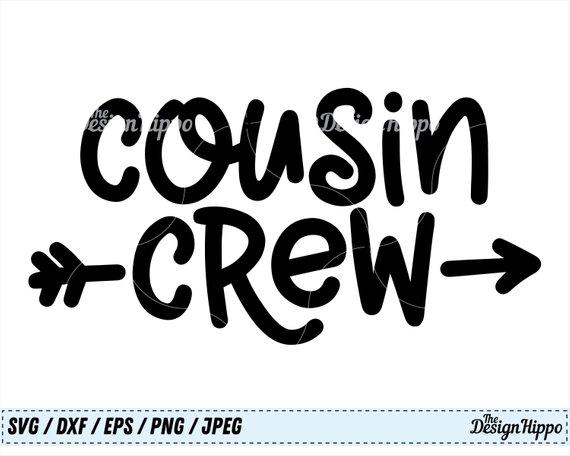 Cousins clipart autumn. Cousin svg crew family
