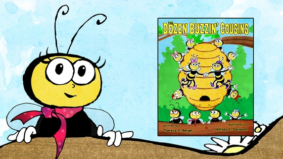 Cousins clipart children's. Track the dozen buzzin