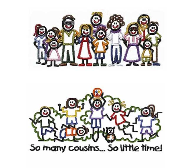 Confuzzled books sunday salon. Cousins clipart family get together