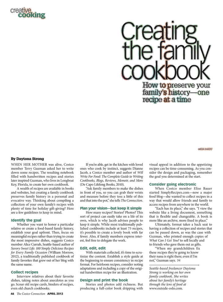 Creating the cookbook costco. Cousins clipart family reunion