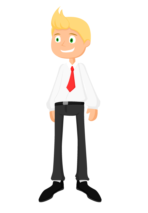 Character design illustration animationmu. Excited clipart happy man