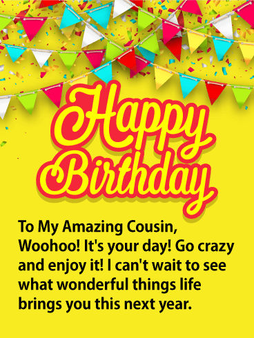 Happy birthday cousin messages. Cousins clipart lovely day