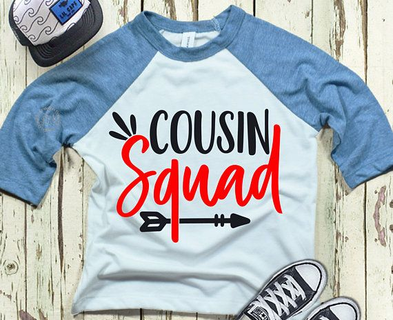 Cousins clipart many kid. Cousin squad svg family