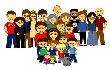 People clip art adults. Cousins clipart many kid