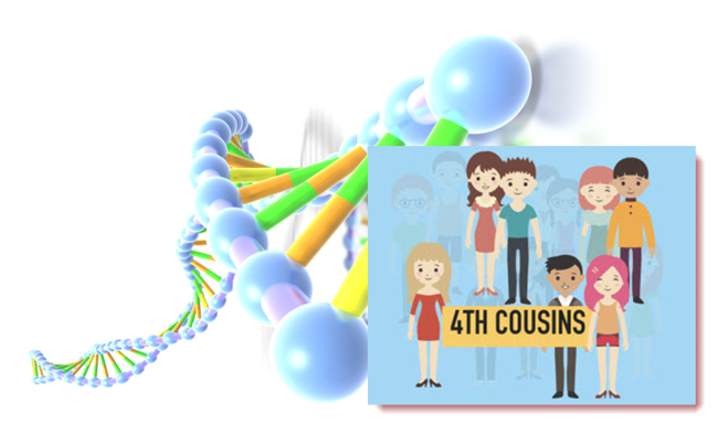 Why your genetic family. Cousins clipart row child