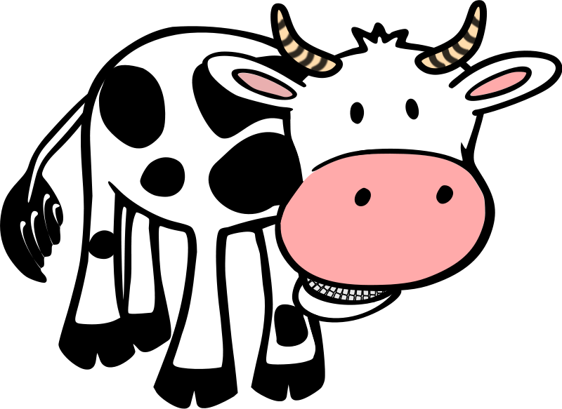 The size of a. Cow clipart attitude