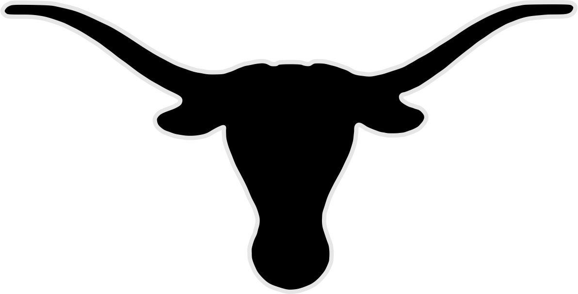Steer head silhouette at. Longhorn clipart logo