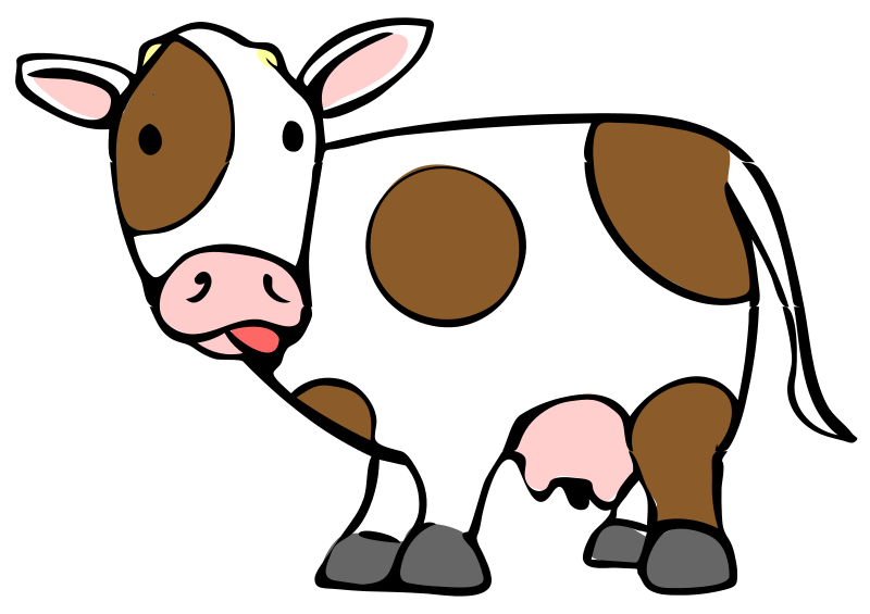 Cow clipart cartoon. File svg wikimedia commons