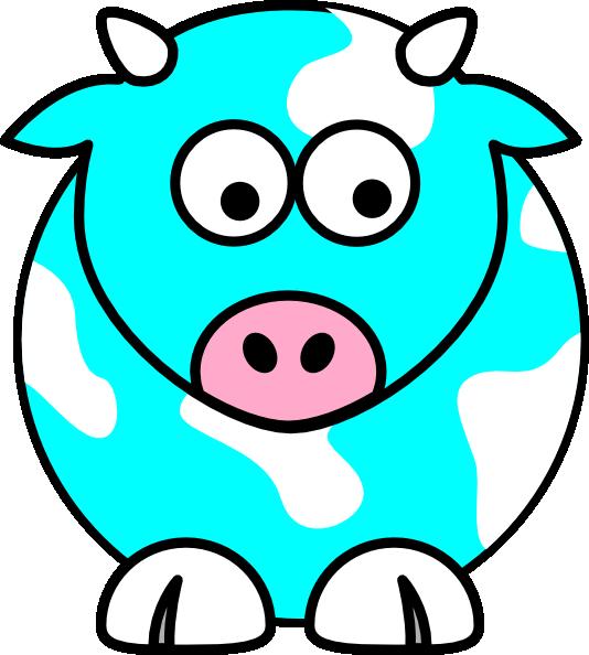 Cow clipart cartoon. Blue clip art at