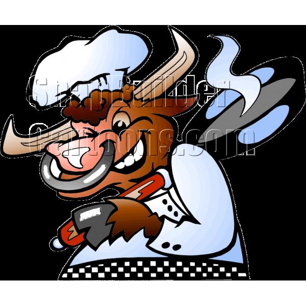 Bull . Cow clipart chef