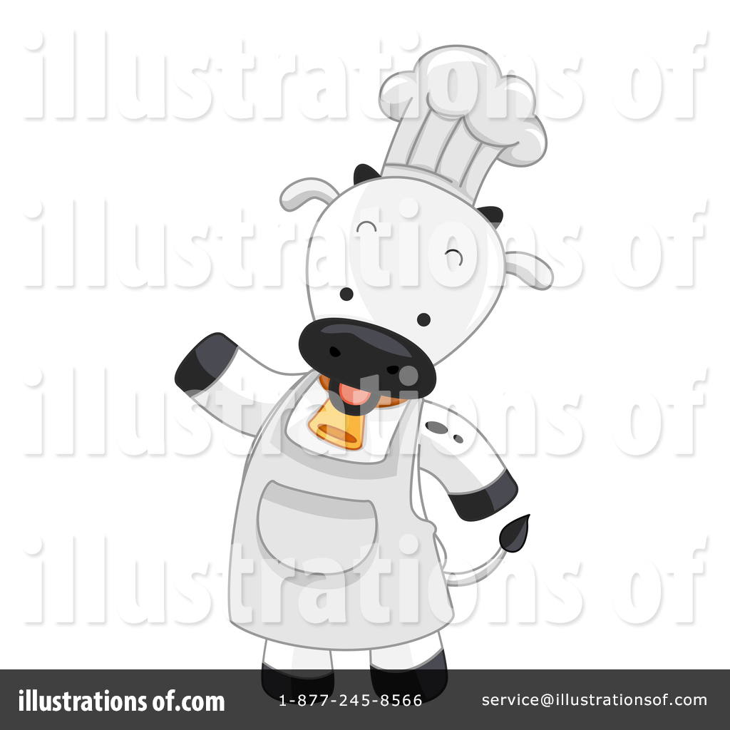Cow clipart chef. Illustration by bnp design