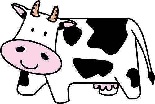 Cute cow the chop. Cows clipart craft