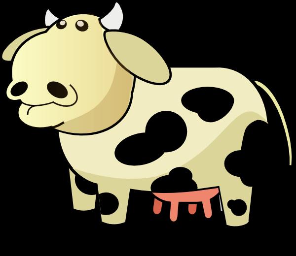 Cream cliparts zone colored. Cow clipart easy