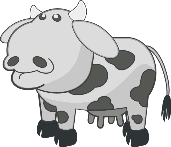 Cow gray pencil and. Cows clipart farm animal
