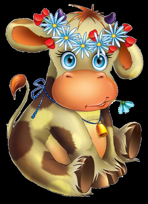 Sgblogosfera mar a jos. Cow clipart flower