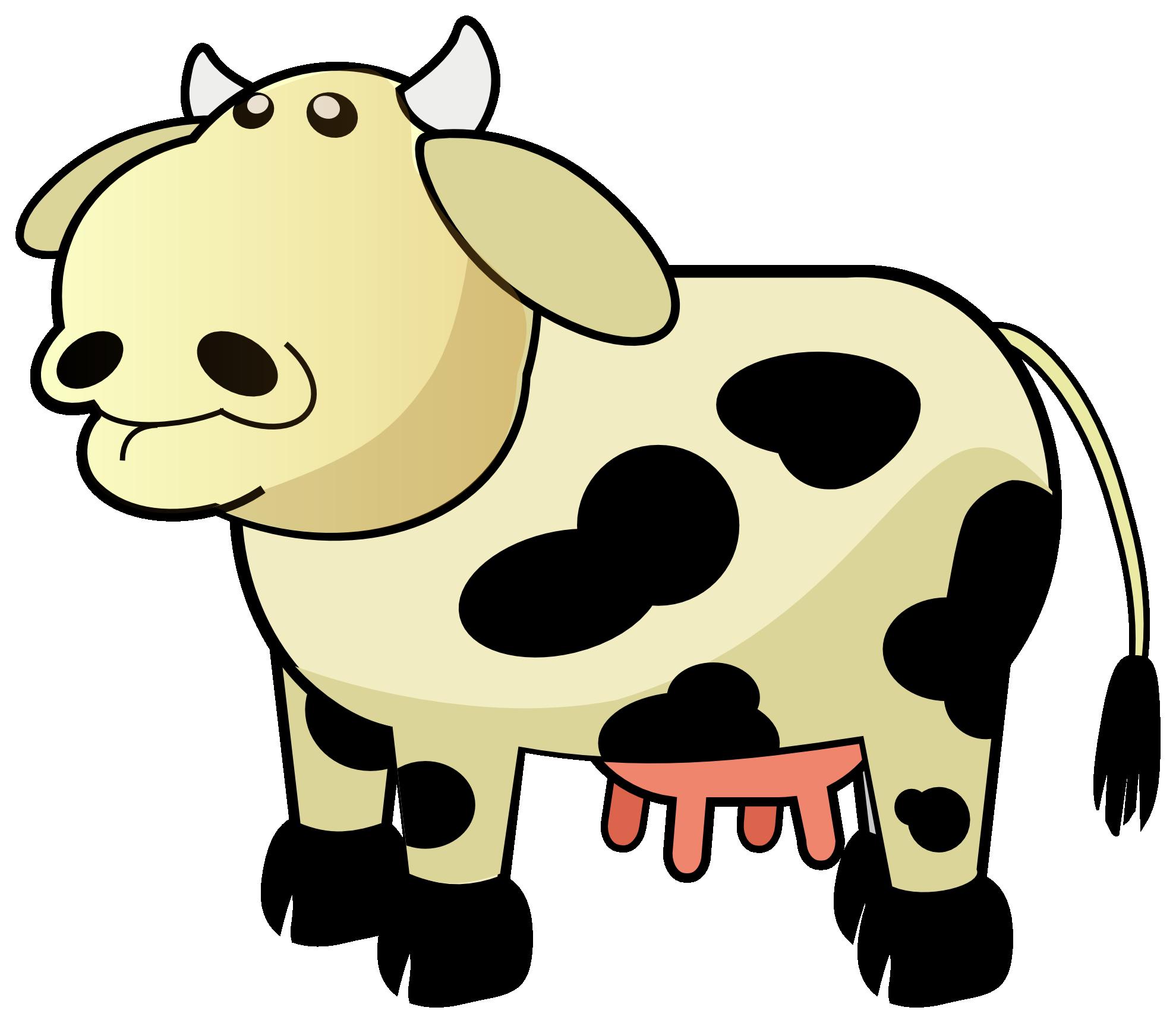 Cow clipart gold. Clipartist net super duper