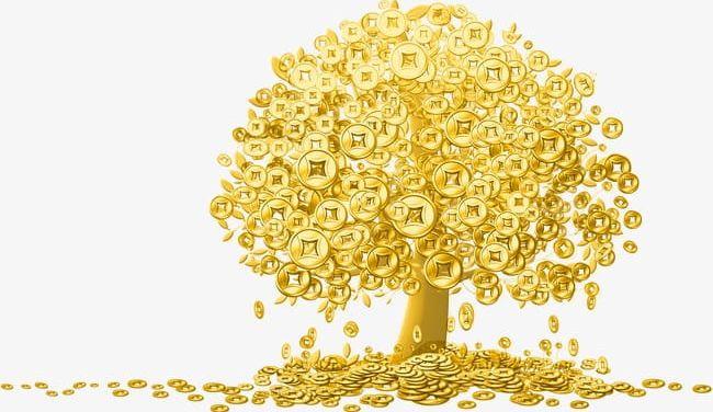 Golden cash png . Cow clipart gold