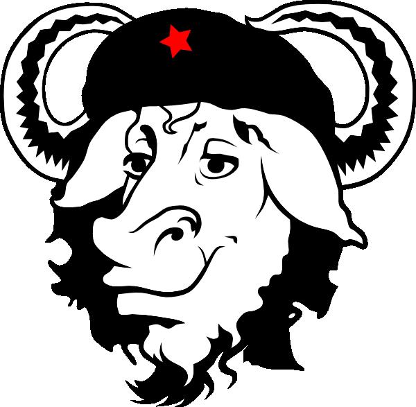 Gnu cap clip art. Cow clipart hat
