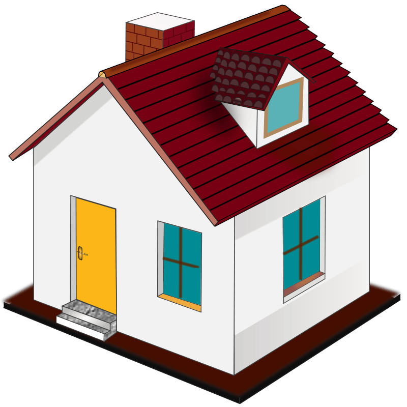 Cow clipart home. House cliparts zone