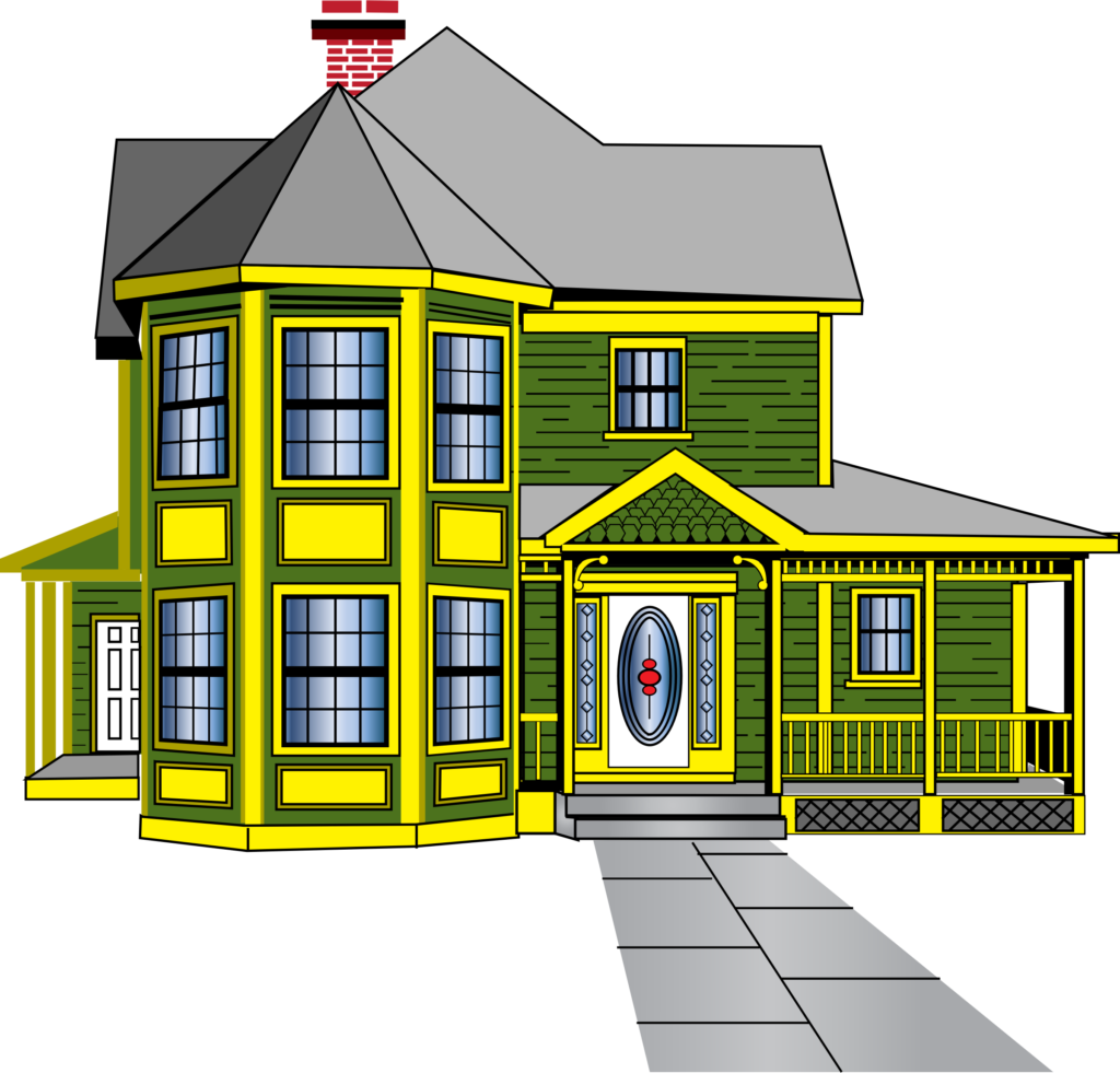 Ericortner gingerbread with porch. Cow clipart house