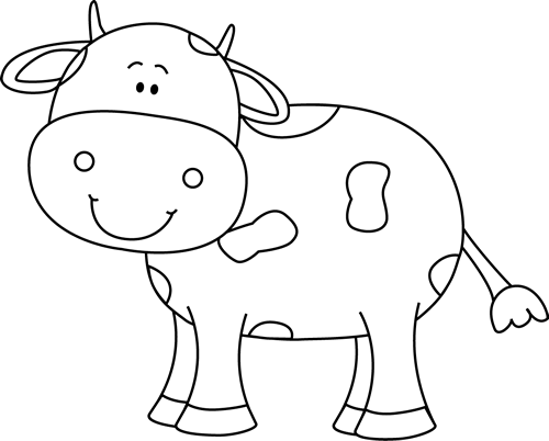 Free black and white. Cow clipart mouth