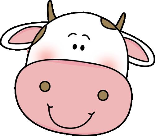 Head h cartoon face. Cow clipart mouth