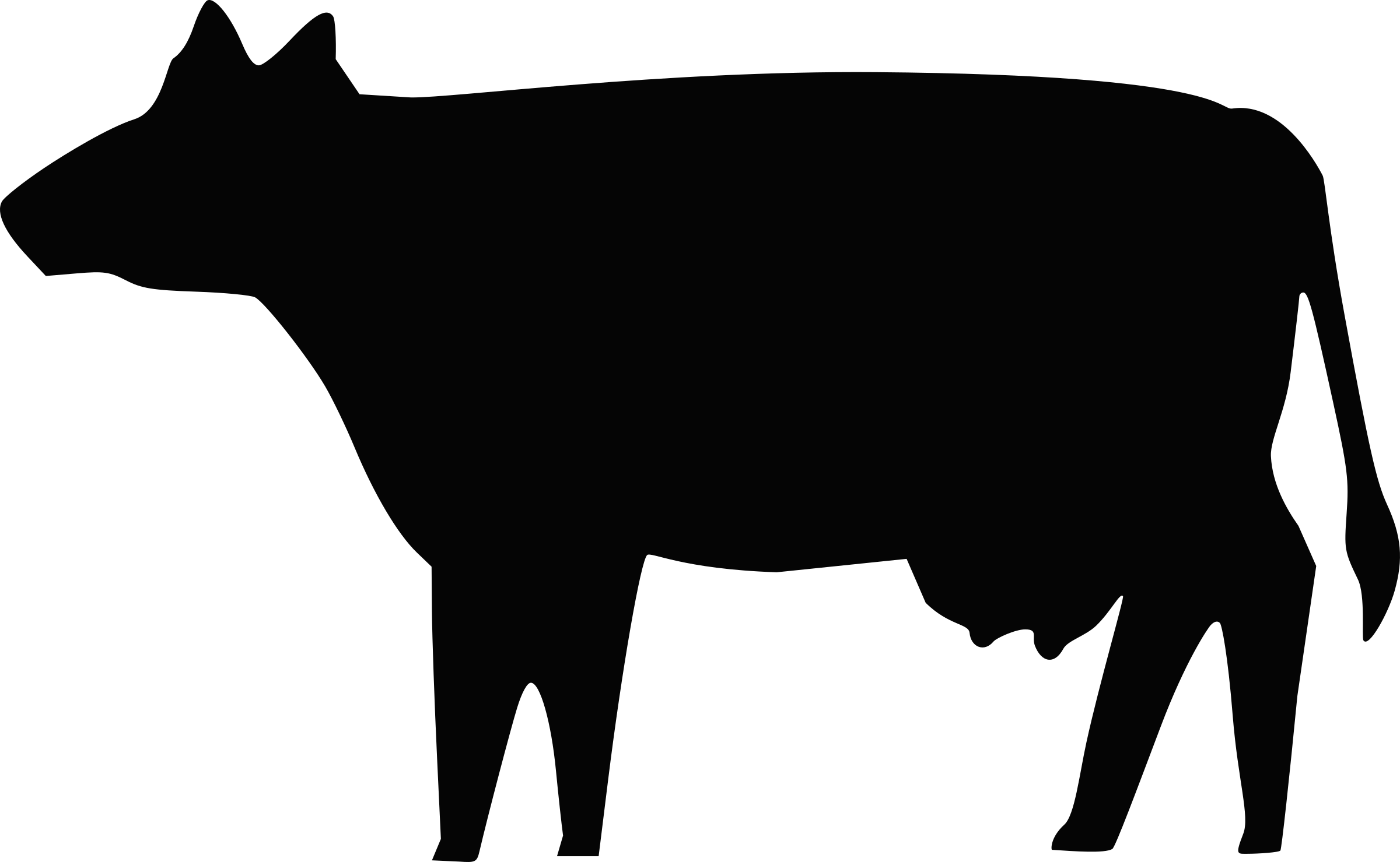 Cows clipart pig. Cow silhouette png at