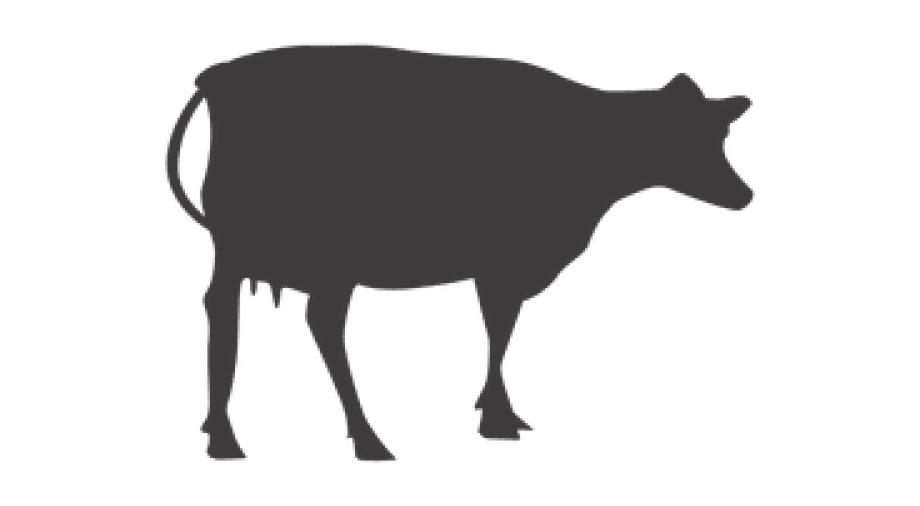 Cow clipart profile. Png silueta de vaca