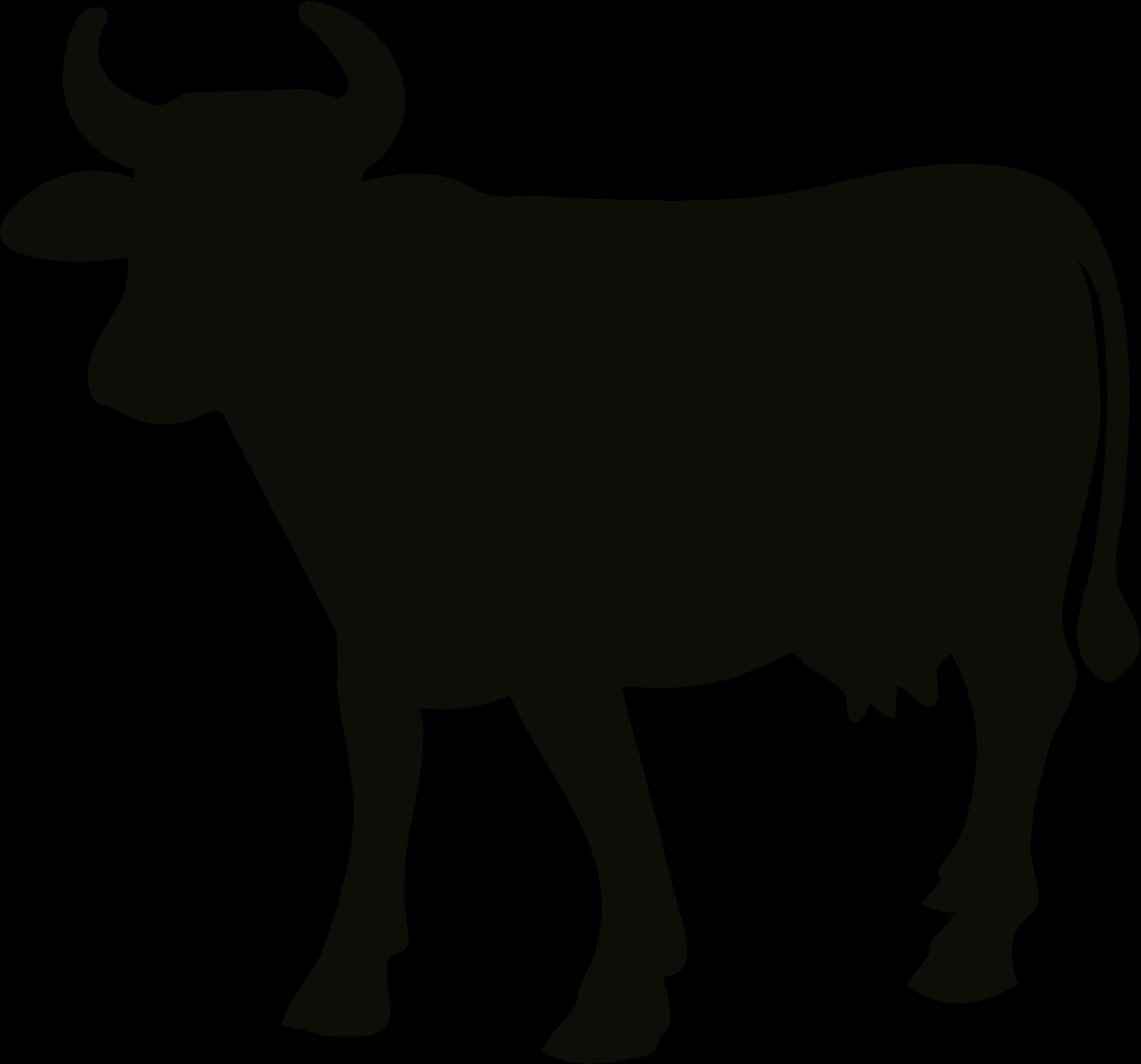 Cattle clip art vector. Cow clipart profile