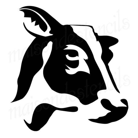 Euro stencil designs silhouette. Cow clipart profile