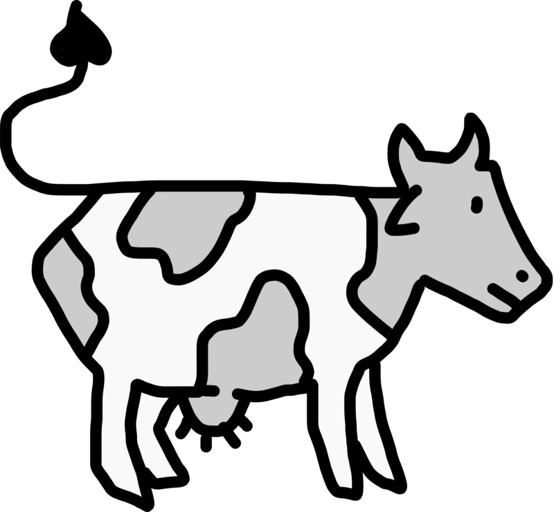 Cow clipart transparent background. Free black and white