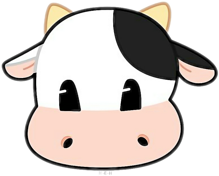 Cows clipart vaca. Cow sticker by ana