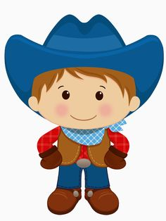 Cowboy clipart. Little digital clip art