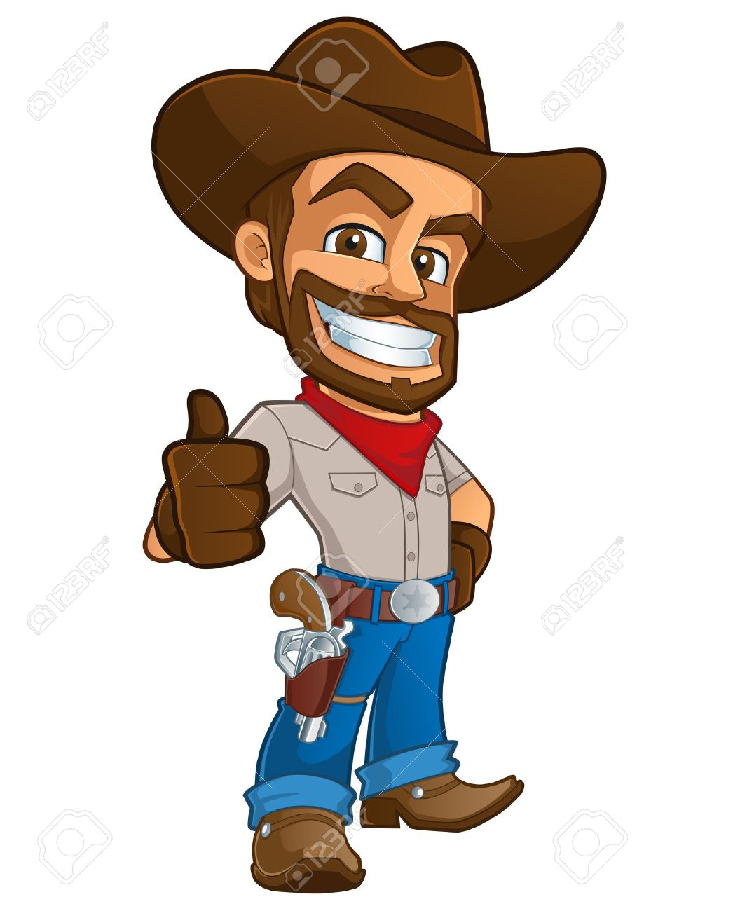 Cowboy clipart. Hat gun free on