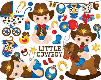 Body clipart cowboy. Etsy cowboys baby vector