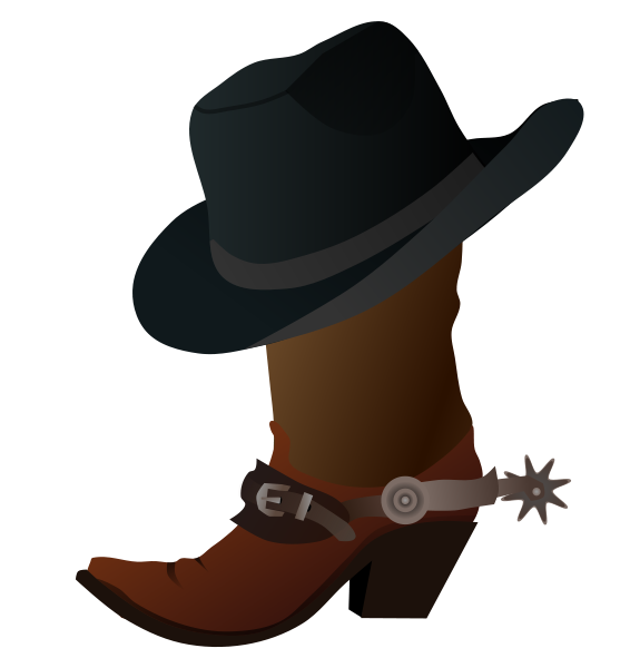 Cowboy clip art black. Hat clipart cow boy