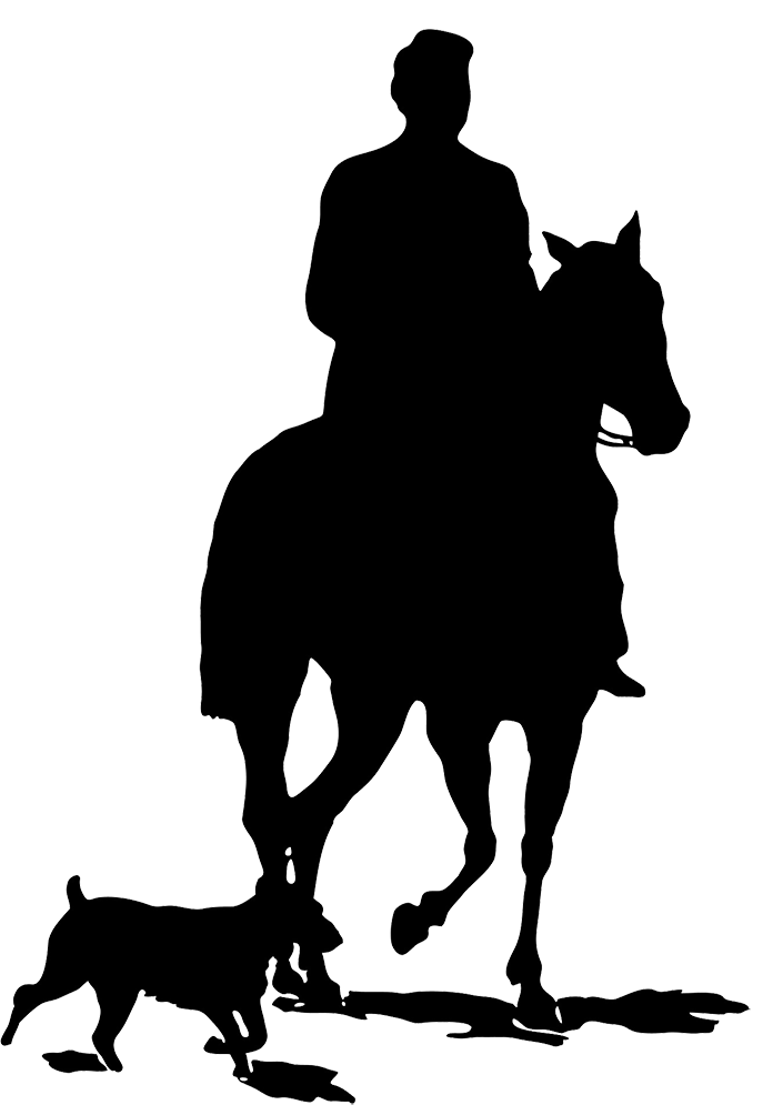Cowboy on a horse. Cowgirl clipart black and white