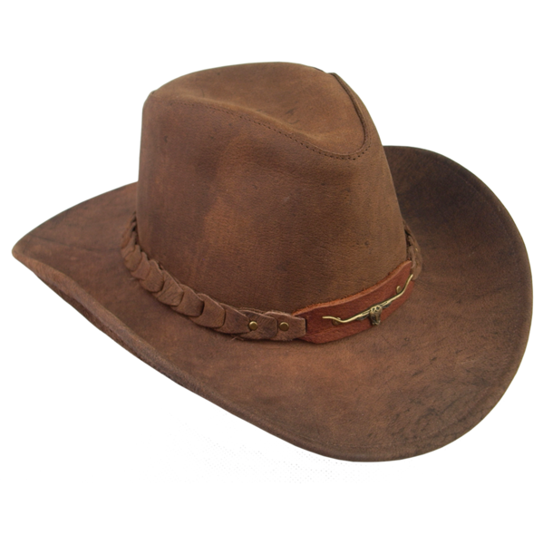 Blackwell in bark kakadu. Cowboy clipart brown hat