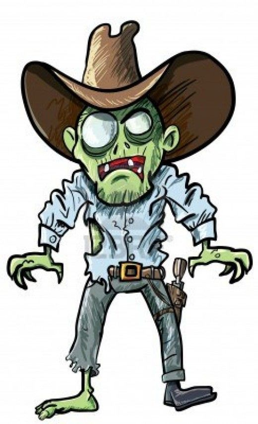 Zombie clipart clip art. Cowboy costumes illustrations wallpapers