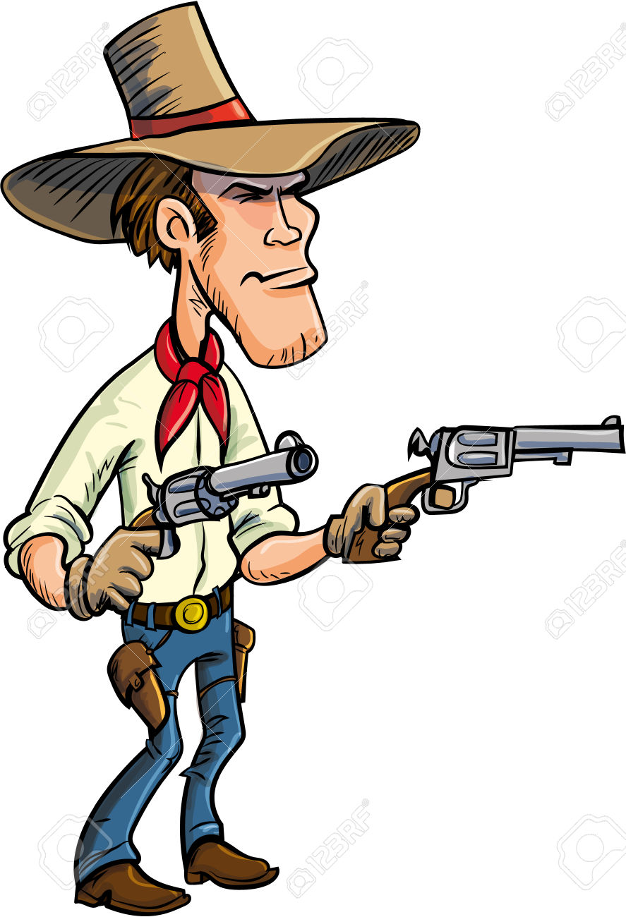 Cowboy clipart cowboy shooting. Western gun free download