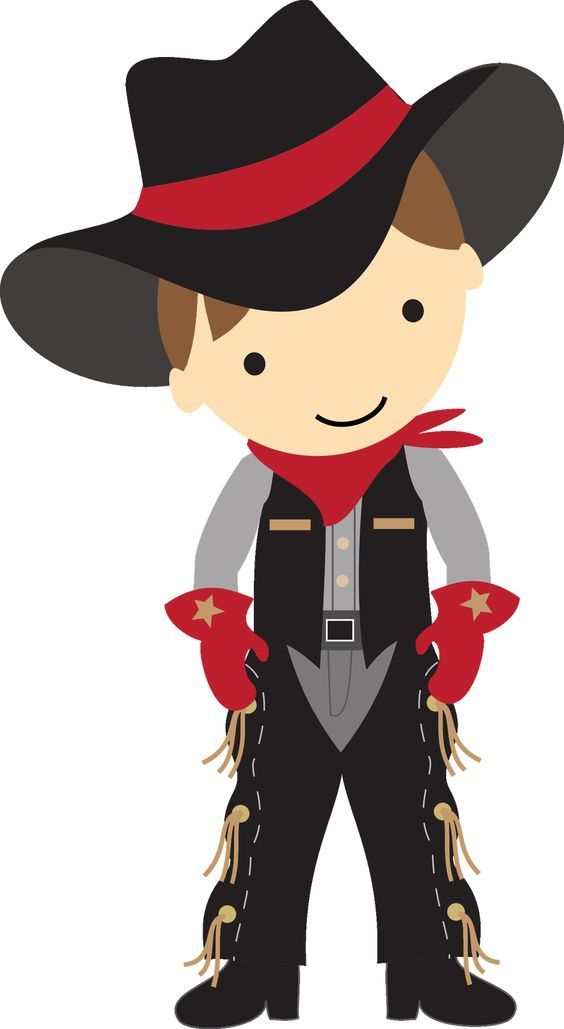 Cowboy clipart cowboys and indians. Cute collection birthday