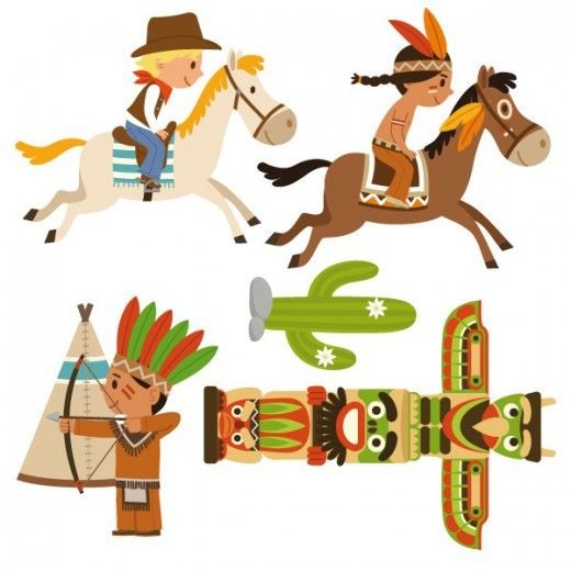 Cowboy clipart cowboys and indians. Free download best on