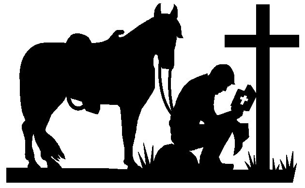Cowboy clipart cross silhouette. Free christian cliparts download