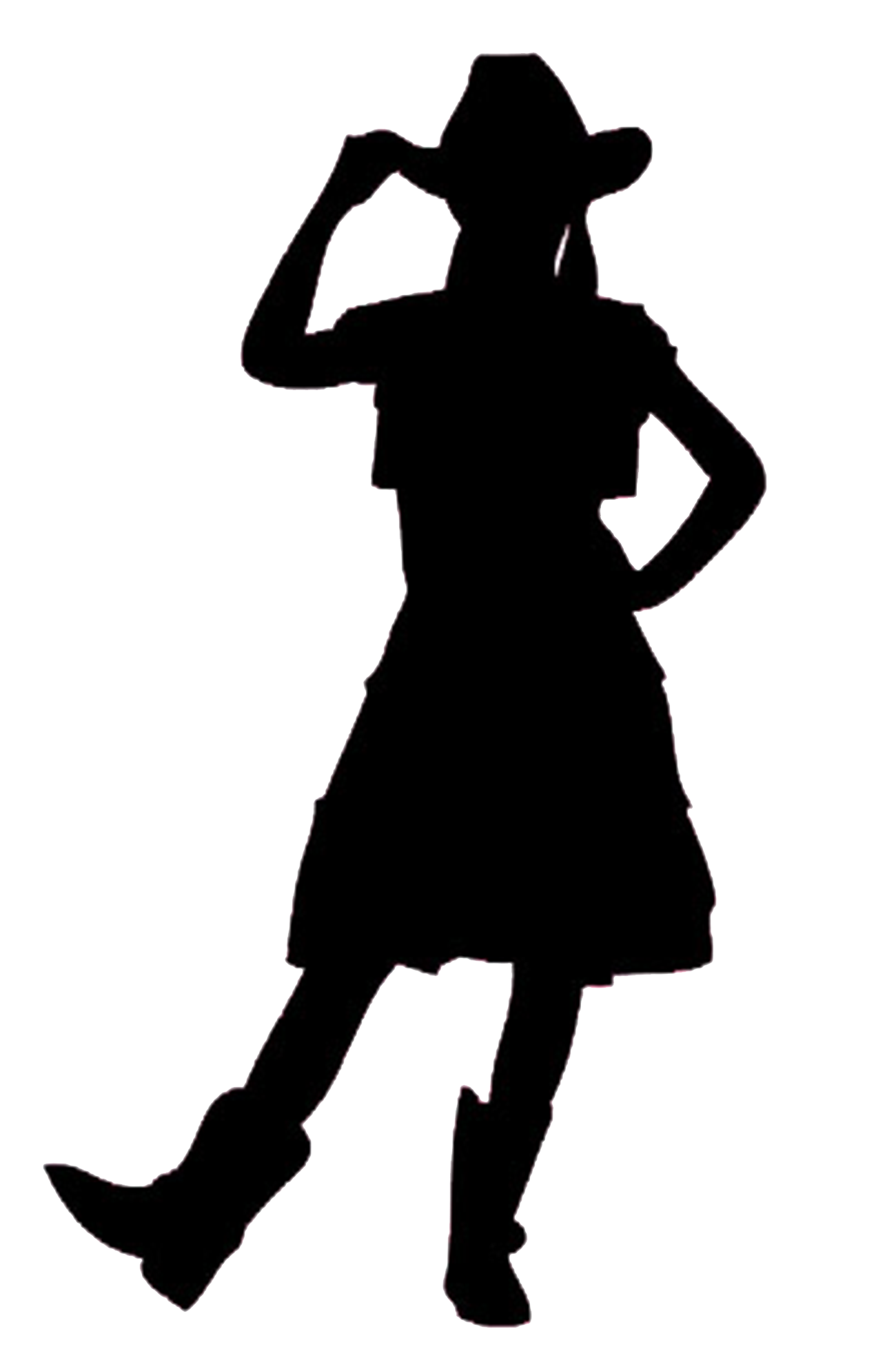 Cowgirl clipart silhouette. Praying at getdrawings com
