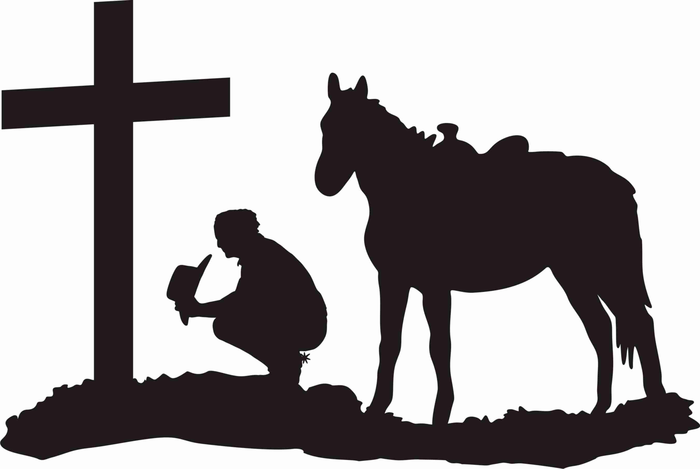 Pin by carolyn king. Cowboy clipart cross silhouette