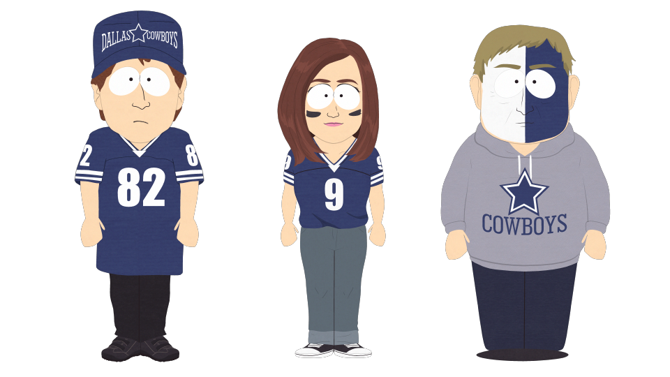 Dallas cowboys clipart transparent. Fans official south park