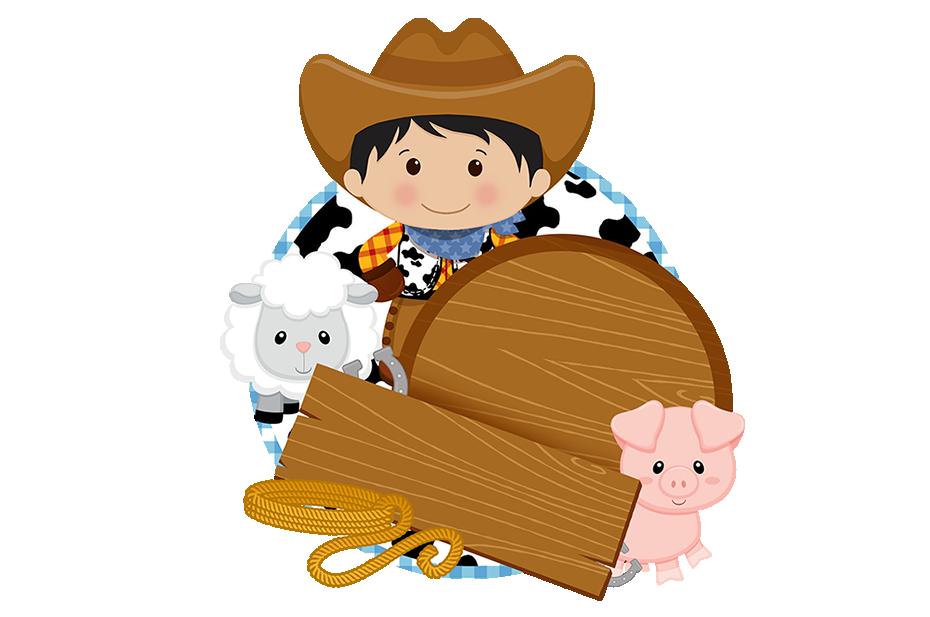Cowboy clipart frame. Kit fazendinha menino pinterest