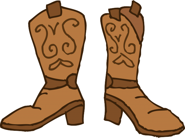 Images of boots free. Cowgirl clipart brown cowboy boot