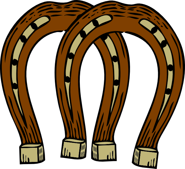 Horseshoe clipart two. Clip art at clker