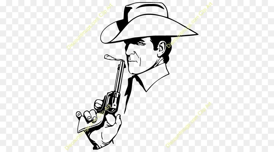 Hat gun art transparent. Cowboy clipart line
